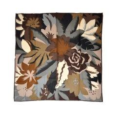 Perry Ellis multicolor floral challis scarf