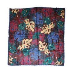 Albert Nipon floral print challis scarf