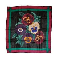 Perry Ellis floral print challis scarf