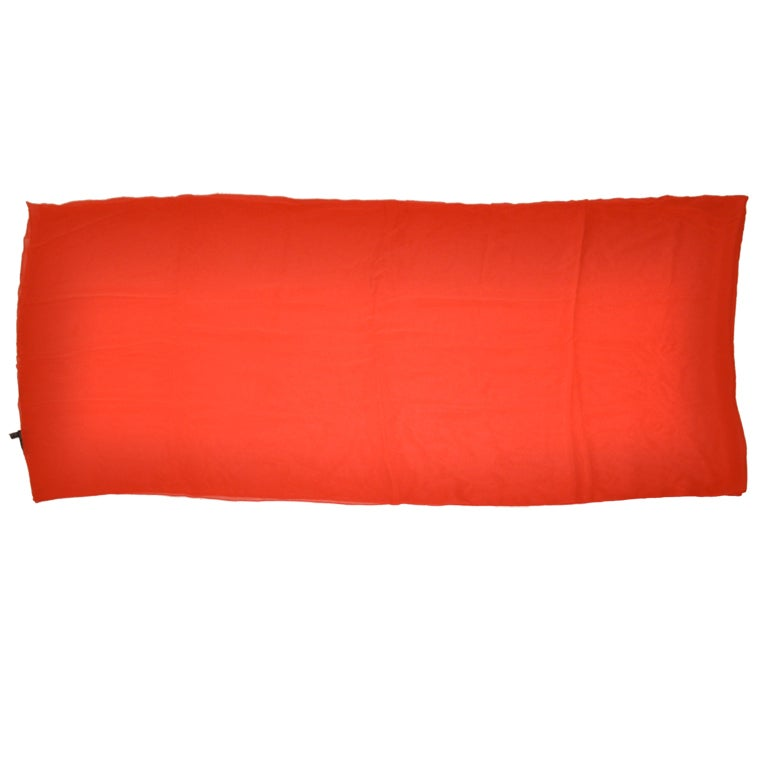 Giorgio Armani Huge red silk chiffon wrap shawl
