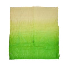 Yves Saint Laurent Huge green silk chiffon shawl