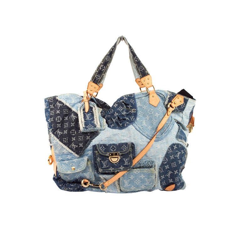 Louis Vuitton Denim Patchwork Cabby Tribute Style Large