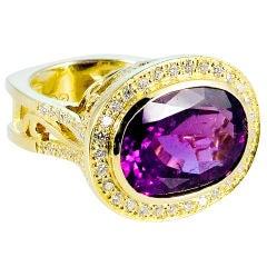 Purple Tourmaline Diamond Ring