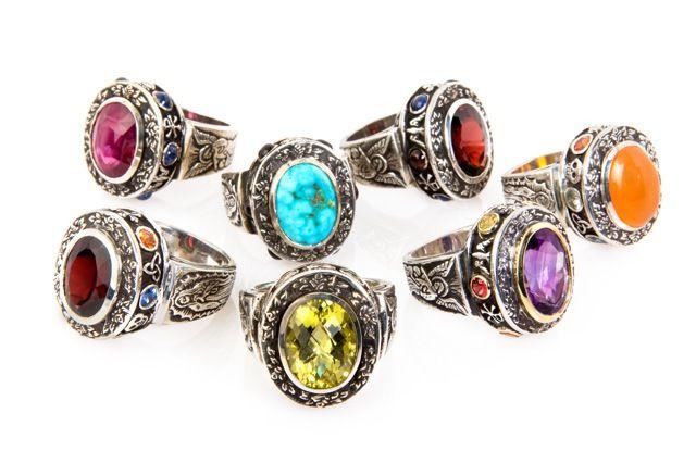 Emma Quist Turquoise Garnet Alleluia Ring image 3
