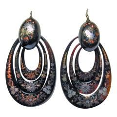 Antique Triple Hoop Pique Earrings