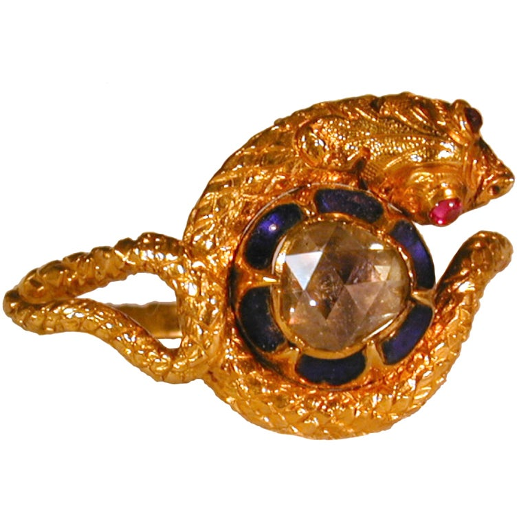 antique snake ring at 1stdibs