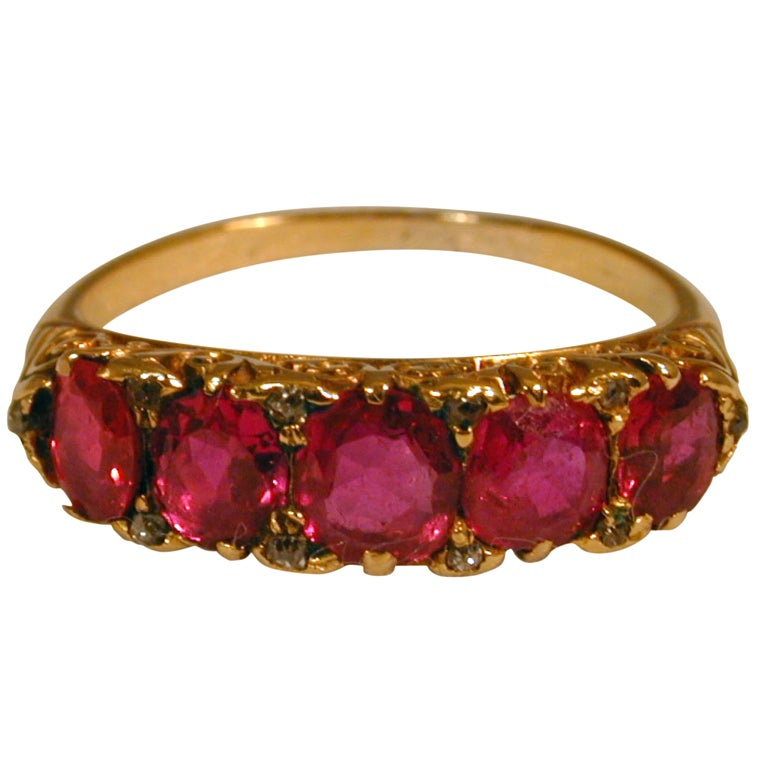 antique five ruby ring at 1stdibs