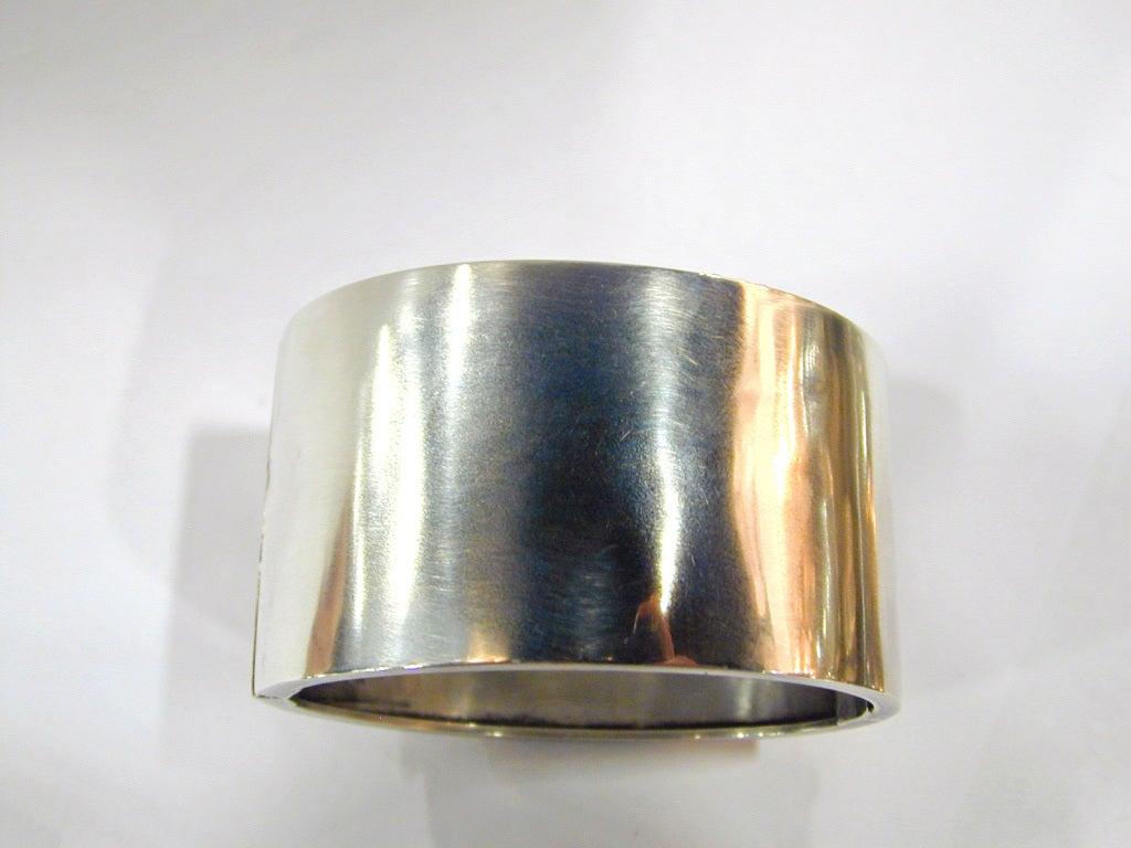 Antique Sterling and Gold Bangle Bracelet 7