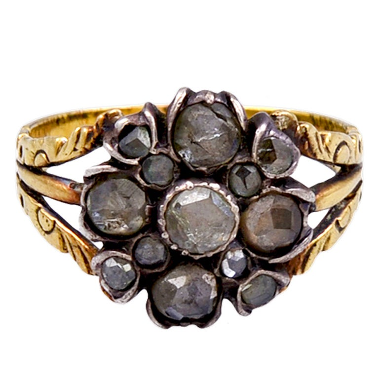 antique cluster ring for sale at 1stdibs