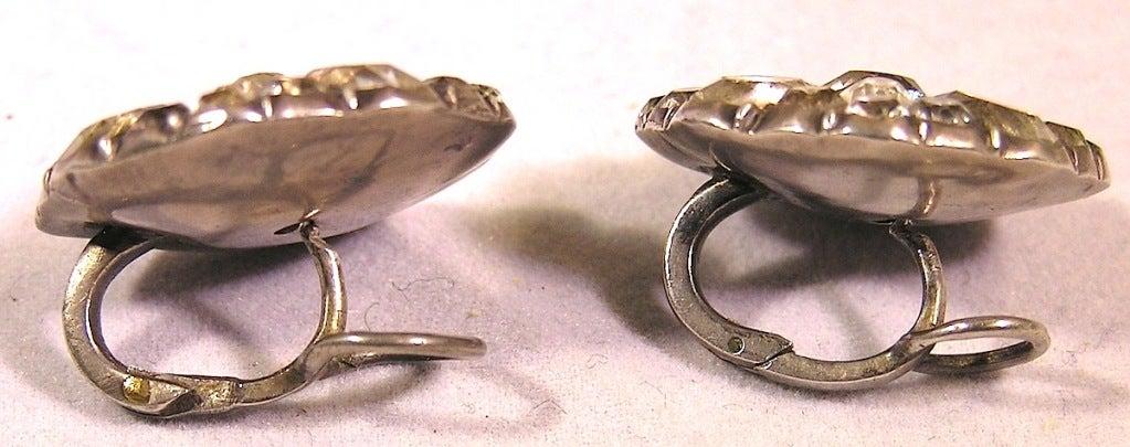 """Women's Antique """"Queen Anne"""" Paste Earrings For Sale"""