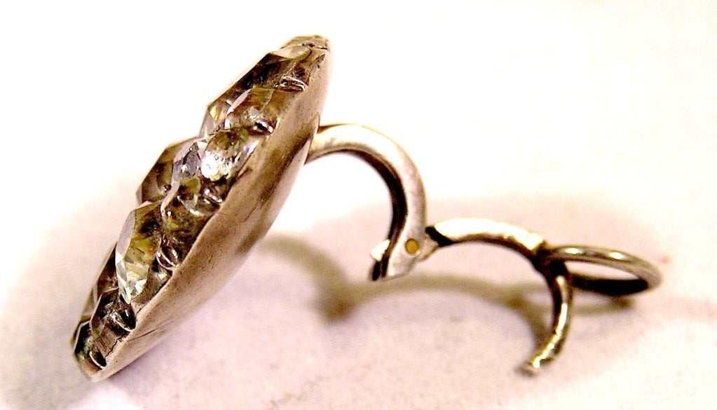 """Antique """"Queen Anne"""" Paste Earrings For Sale 1"""