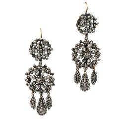 Sparkling Antique Cut Steel Drop Earrings