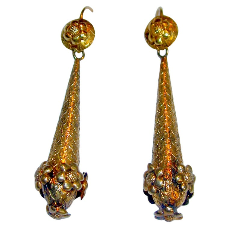 Antique Pendeloque Earrings