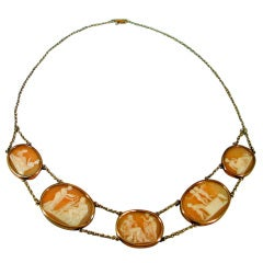 Antique Shell Cameo Necklace