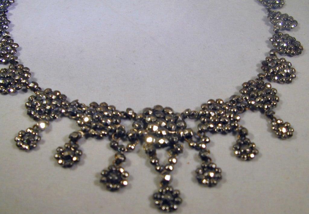 Antique Cut Steel Necklace 4