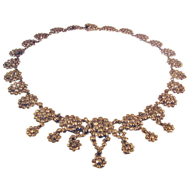 Antique Cut Steel Necklace 1