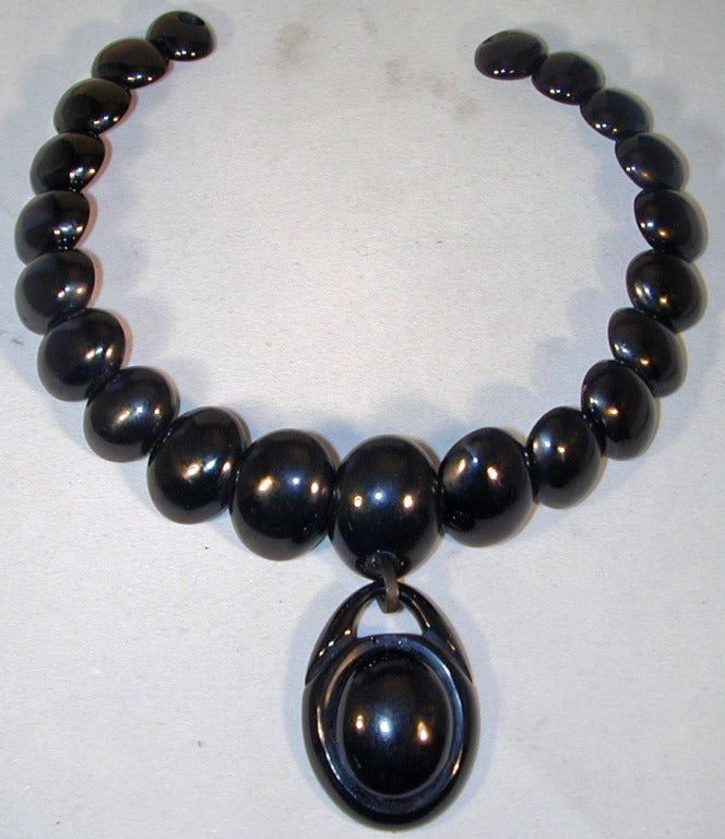 Antique Whitby Jet Necklace 2