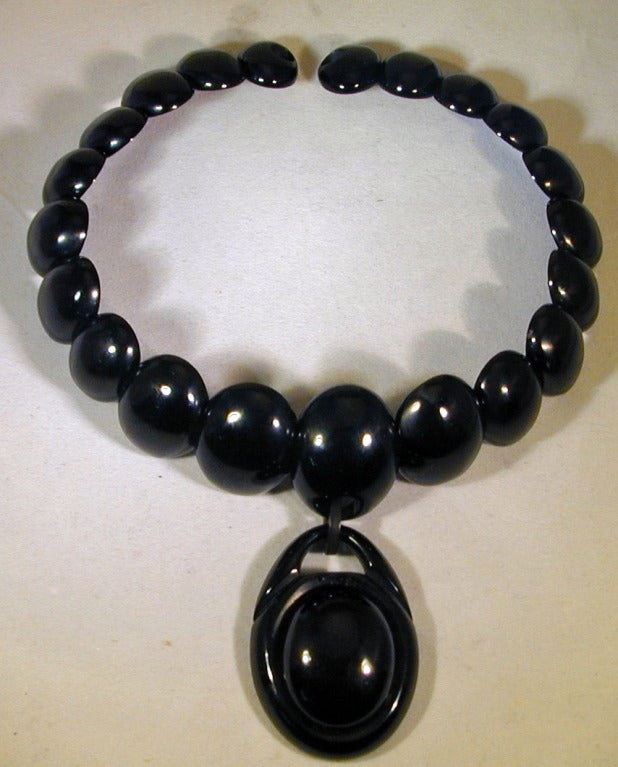 Antique Whitby Jet Necklace 3