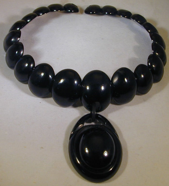 Antique Whitby Jet Necklace 4