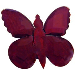 Antique Vauxhall Glass Butterfly Brooch