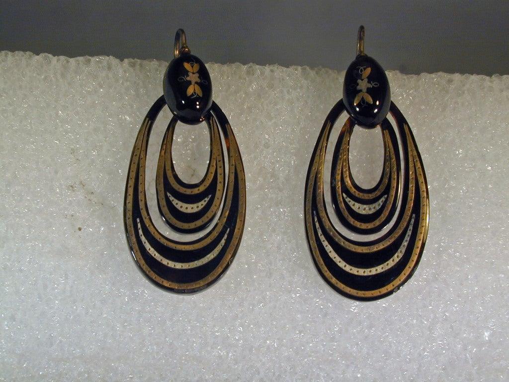 Antique Pique Hoop Earrings 2