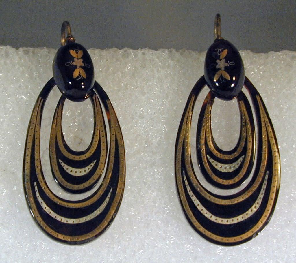 Antique Pique Hoop Earrings 3