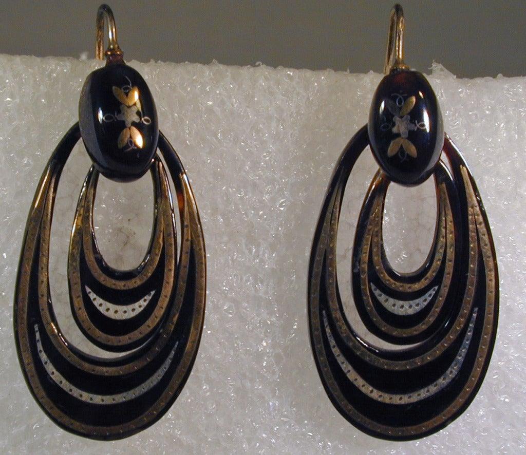 Antique Pique Hoop Earrings 4