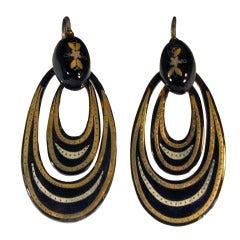 Antique Pique Hoop Earrings
