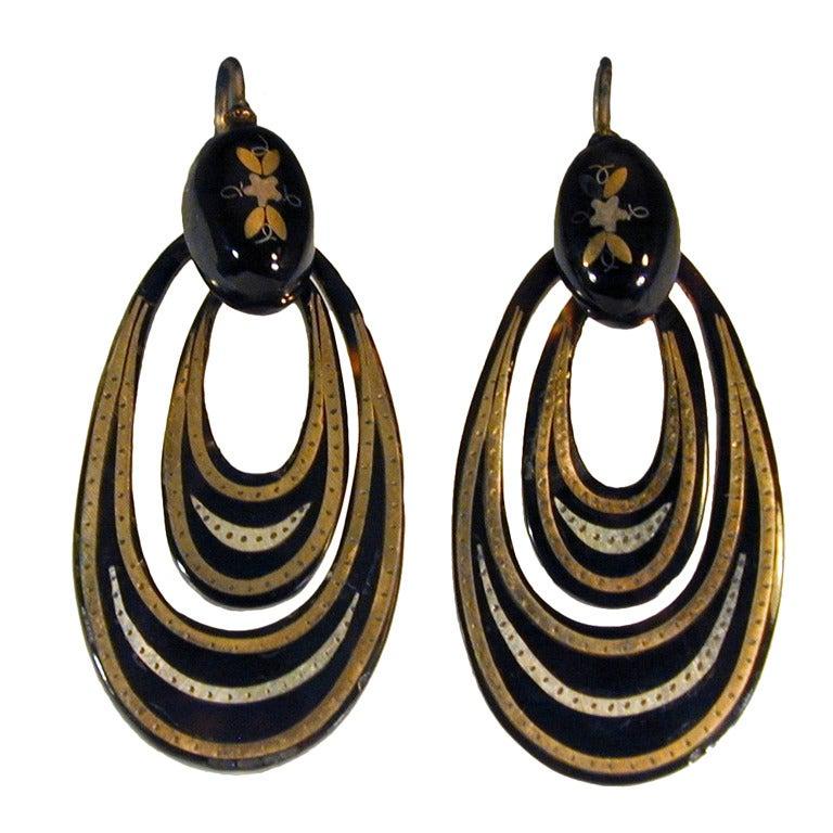 Antique Pique Hoop Earrings 1