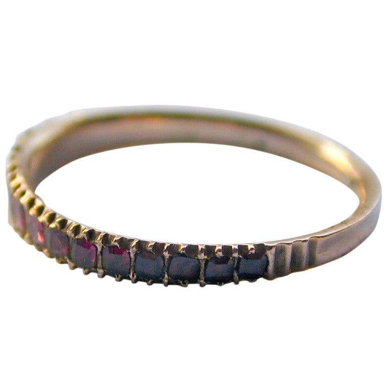 antique almandine garnet half hoop ring for sale at 1stdibs