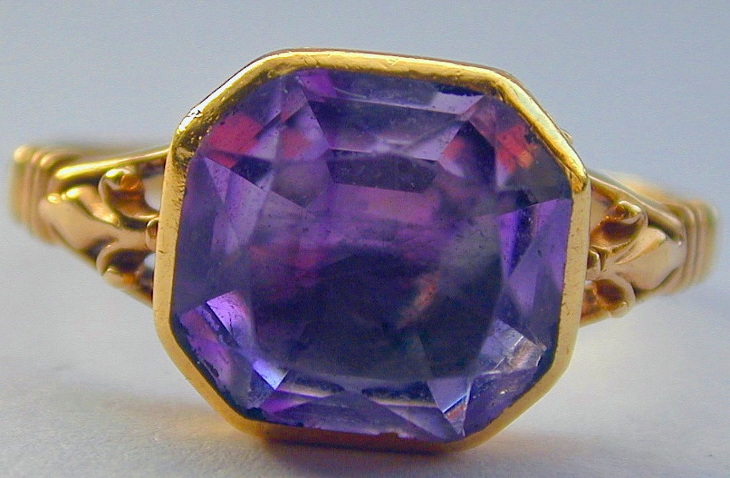 amethyst ring vintage - photo #48