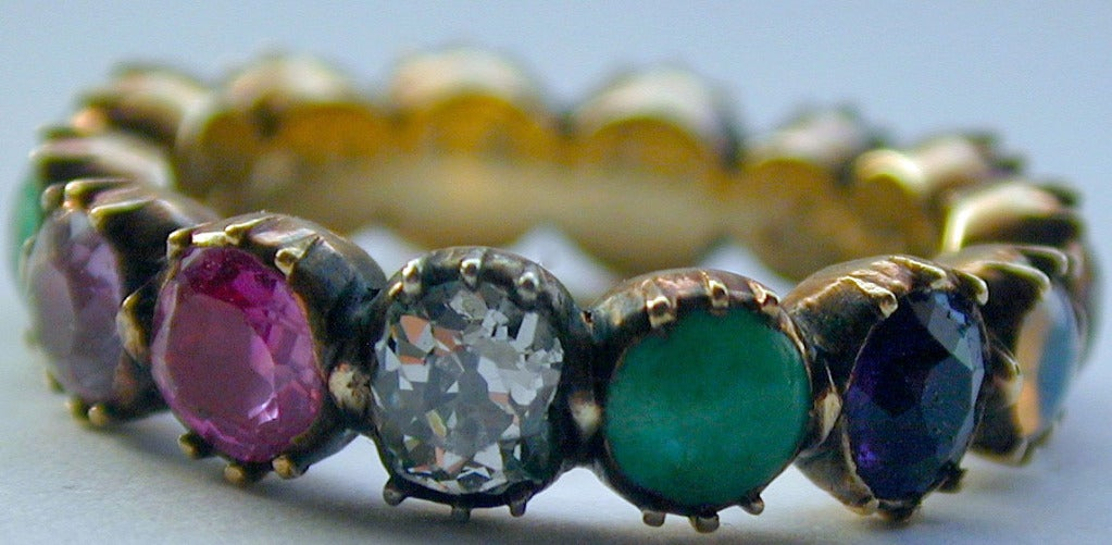 colorful antique multi gemstone eternity band at 1stdibs