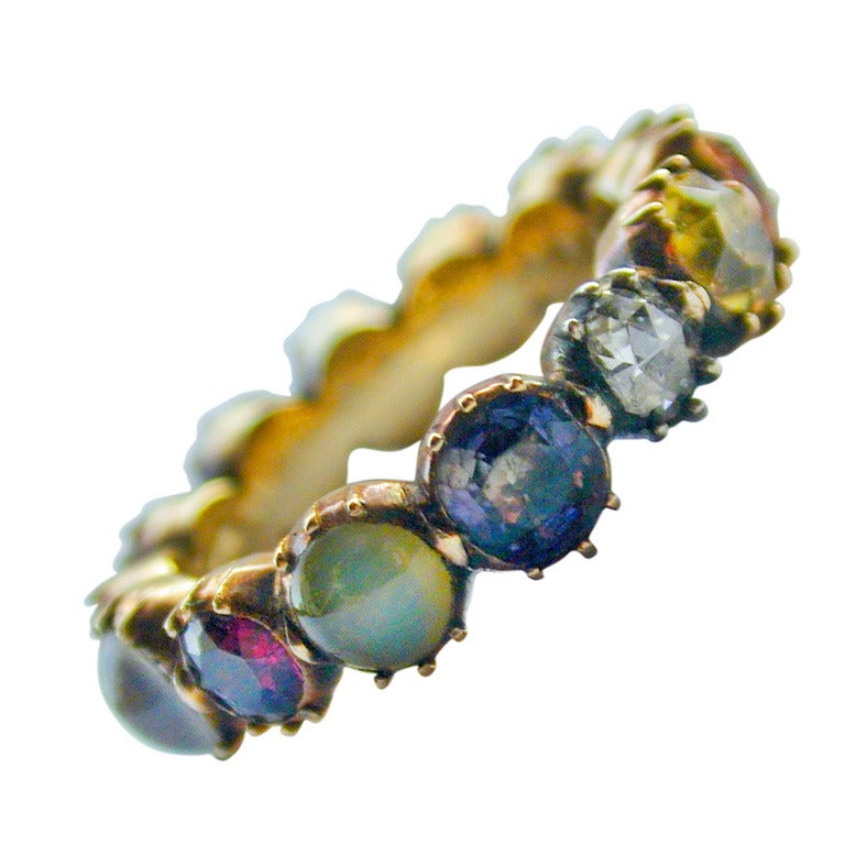 Antique Turquoise Eternity Ring