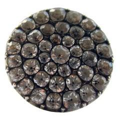 Antique Black Dot Paste Cluster Ring
