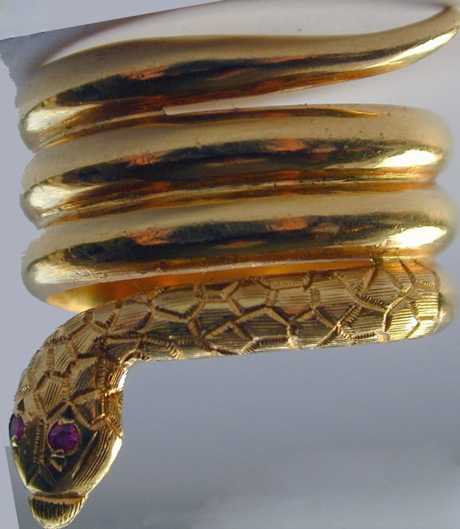 Victorian Antique Gold Snake Ring