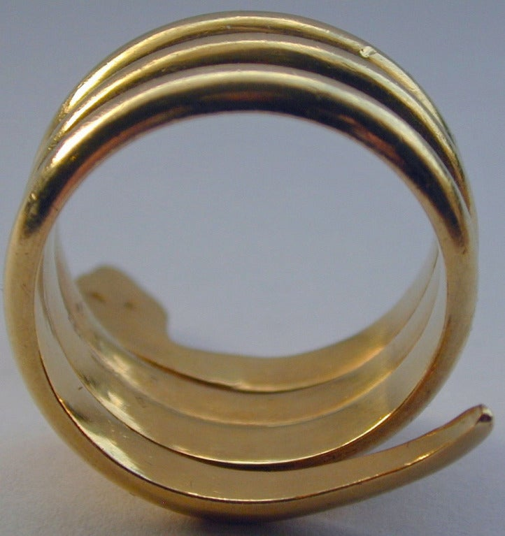 Antique Gold Snake Ring 1