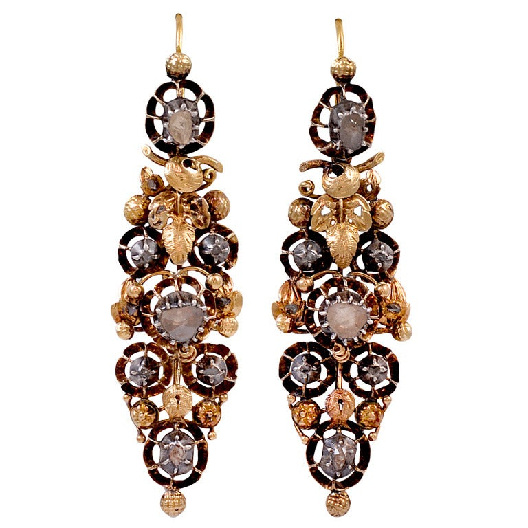 Antique 19th Century Spanish Earrings At 1stdibs