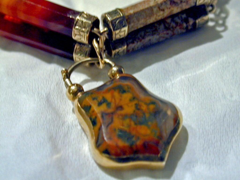 Women's Antique Scottish Agate Bracelet For Sale
