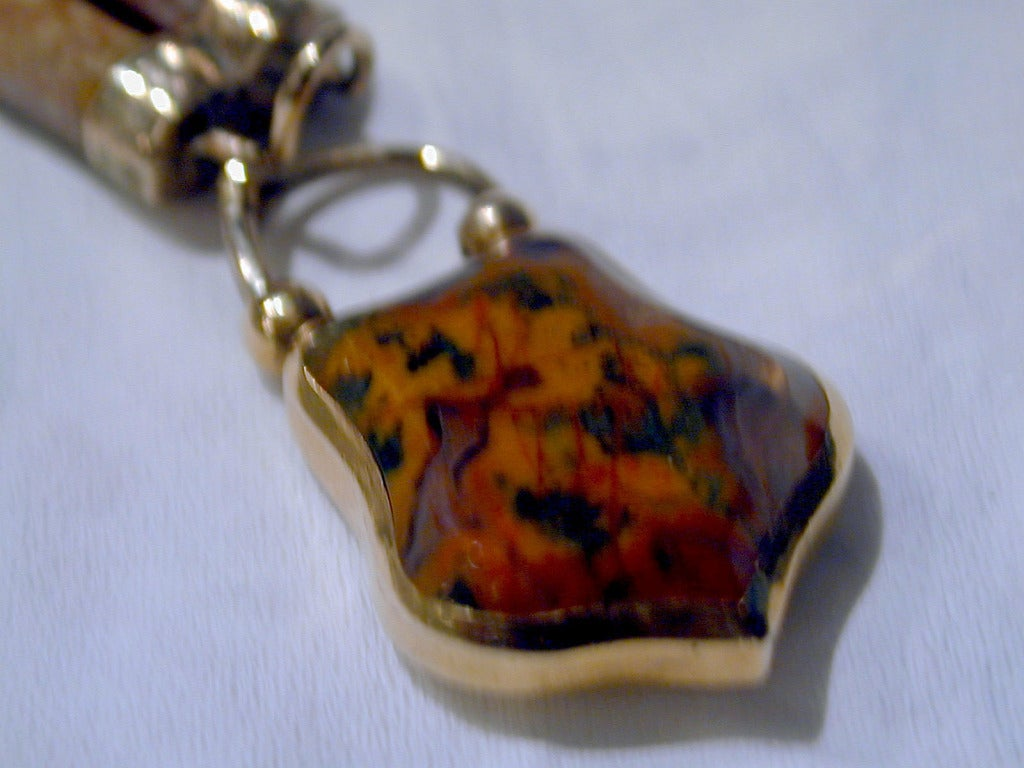 Antique Scottish Agate Bracelet For Sale 3