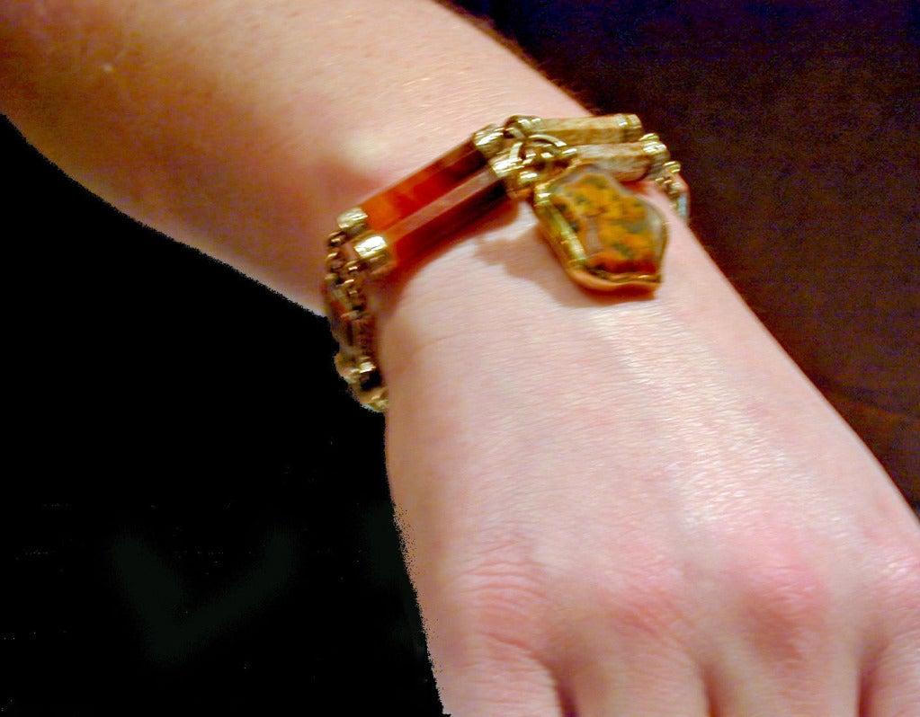 Antique Scottish Agate Bracelet For Sale 5
