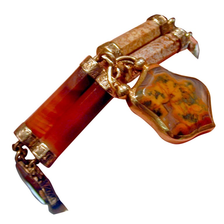 Antique Scottish Agate Bracelet