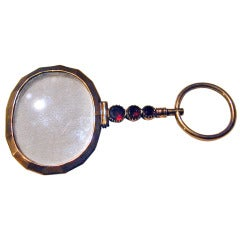 Antique Garnet and Gold Quizzing Glass