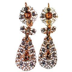 Delicate Normandy Rose Diamond Earrings