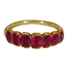 Antique Seven Stone Ruby Ring