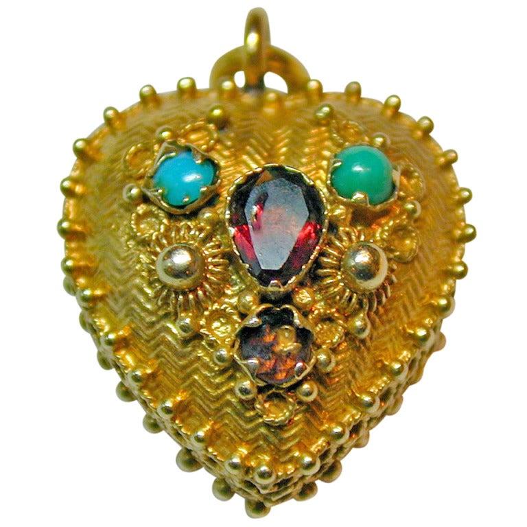 Antique Heart Locket 1