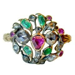 Antique Multi-Gem Giardinetti Ring
