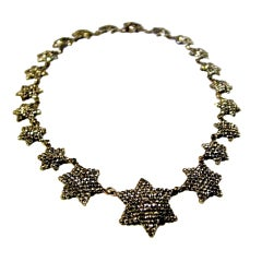 Star Studded Antique Cut Steel Necklace