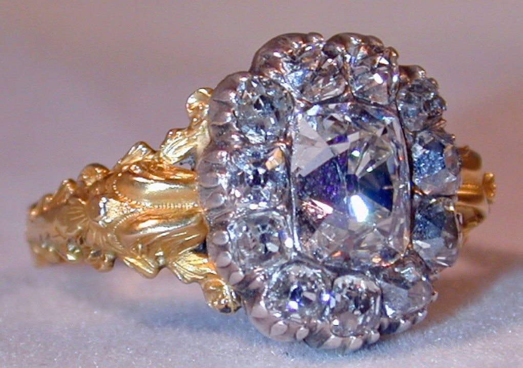 Extraordinary Early Victorian Diamond Cluster Ring 2