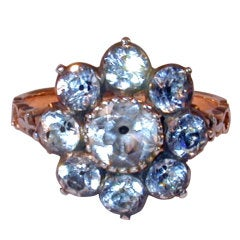Early Victorian Paste Cluster Ring
