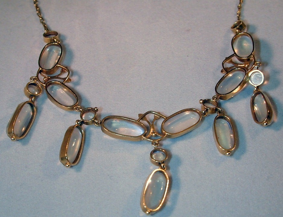 moonstone jewelry gold - photo #10